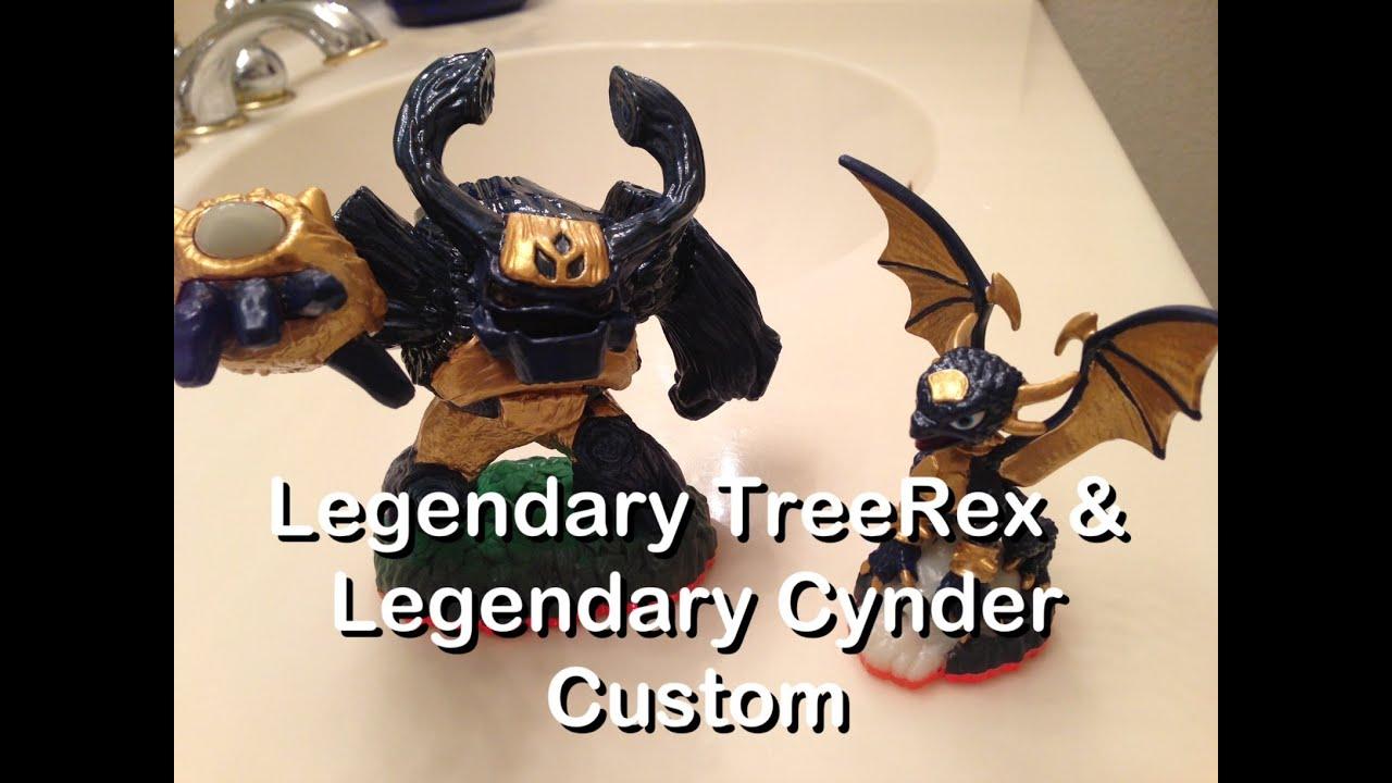 custom skylanders legendary tree rex and legendary cynder