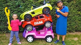 Öykü Hurdalıktan Araba Aldı!! Pretend Play little driver is ride on toy car - Funny Oyuncak Avı