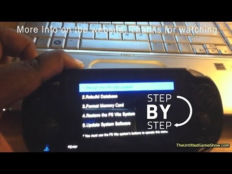 PS Vita Power will not turn on or Freezing. How to fix it video.