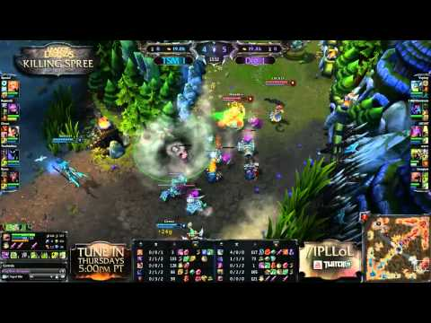 Dignitas vs Team SoloMid - Game 3 - Killing Spree - IPL League of Legends