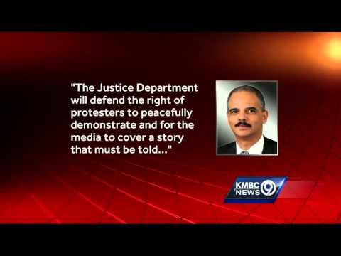 Eric Holder sends message to Ferguson on eve of visit