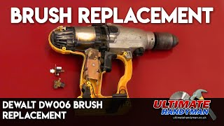 How to replace the brushes in the Dewalt DW006 24v drill