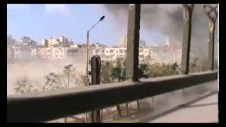 Syria shells exploded near the photographer 19 7 2013