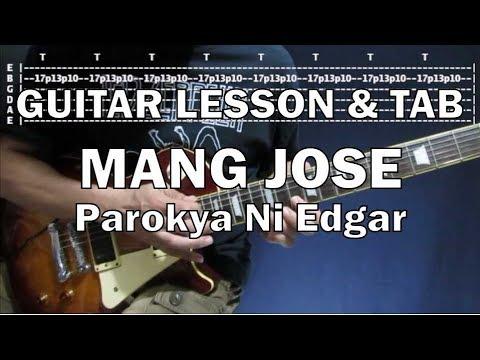 Mang Jose - Parokya Ni Edgar (Guitar Solo Tutorial with tabs)