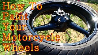 How to Paint Your Motorcycle Wheels Step By Step / ALLKANDY WET WET PLUS painted rims
