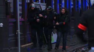 """""""Gilets jaunes"""": affrontements avec les CRS près de l'Etoile- 1er Décembre 2018"""