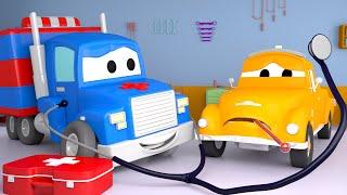 Το Ασθενοφόρο - Καρλ το Σούπερ Φορτηγό στην Αυτοκινητούπολη 🚚⍟ Κινούμενα σχέδια για Παιδιά