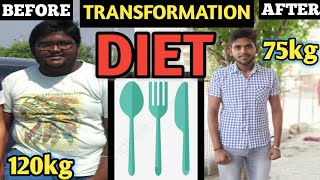 How I Lost Weight(45kgs)?|FULL DAY DIET|Weight Loss For MEN and WOMEN(PART1)|BODY TRANSFORMATION|