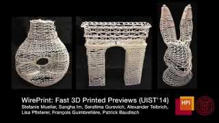 WirePrint: 3D Printed Previews For Fast Prototyping