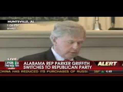 Rep. Parker Griffith switches to Republican Party - House Democrat switches to GOP