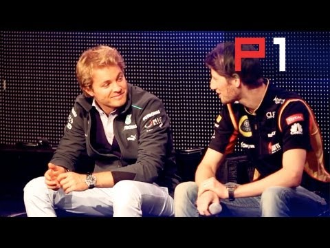 Q&A with top F1 drivers - Nico Rosberg & Romain Grosjean