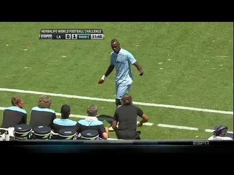Balotelli Failed Trick Shot and Substitution