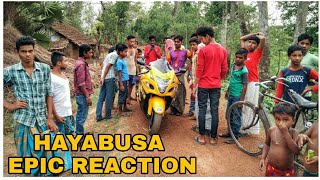 HAYABUSA EPIC REACTION !   | Village people reaction to superbike |
