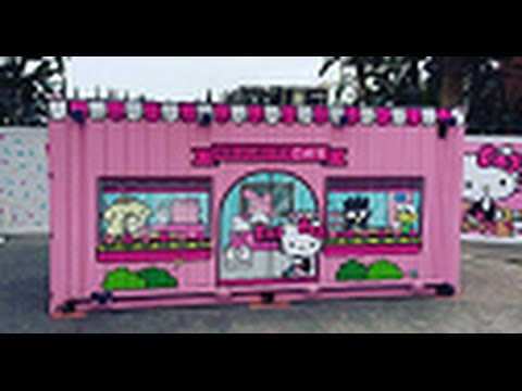 America's First HELLO KITTY CAFE at Irvine Spectrum !