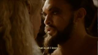 game of thrones season 2 episode10 - khal drogo and Daenerys reunited