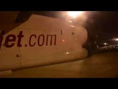 SpiceJet Q400 landing in Colombo