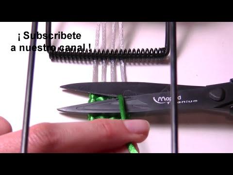Abalorios Bisuteria - Pulsera trenzada con telar