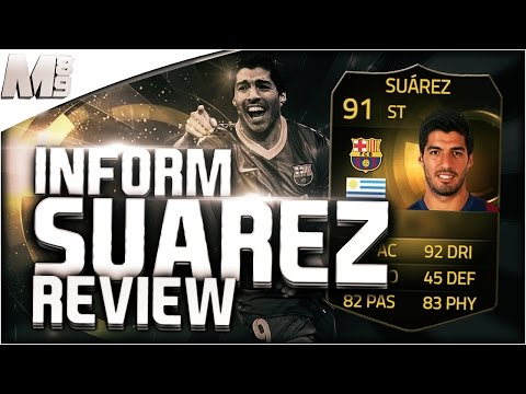 FIFA 15 IF SUAREZ REVIEW (91) FIFA 15 Ultimate Team Player Review + In Game Stats