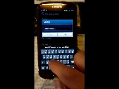 Samsung SGH-I747 (Galaxy S3) APN H2O (Android 4.1.1)