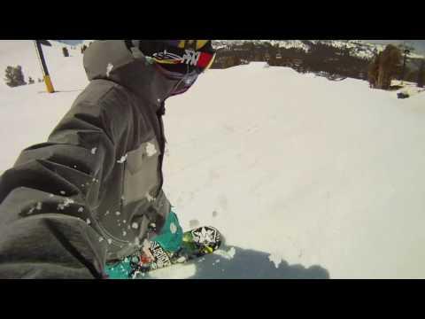 Tim Humphreys  - GoPro camera self filming - snowboarding @ Mammoth