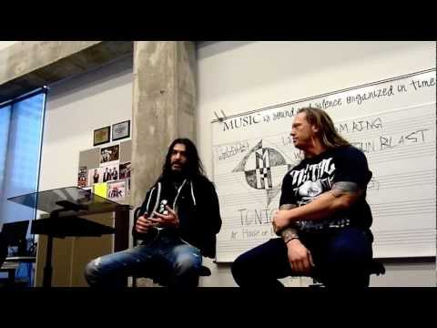 Robb Flynn and Adam Duce of Machine Head Visit My School