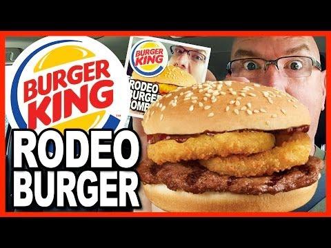 Burger King ★ Rodeo Burger ★ Combo Review & Drive Thru Test