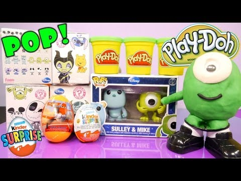 Disney Mystery Minis Surprise Toys Monsters Inc PlayDoh Kinder Surprise Eggs Disney Cars Toy Club