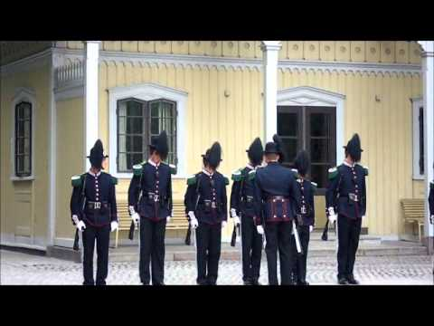 The Changing of the Guards at Oslo's Royal Palace