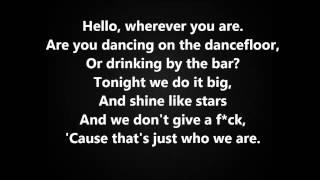 Ke$ha Video - Crazy Kids - Ke$ha feat. Will.I.Am (with Lyrics on screen) HQ