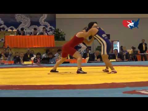 2012 Junior Worlds - FW 67kg Bronze Medal Match - Jennifer Page (USA) vs. Sara Dosho (JPN)
