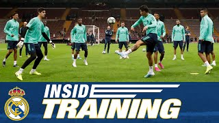 Real Madrid training session ahead of Galatasaray