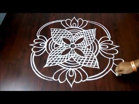 Peacock Rangoli Design || Peacock Kolam With Lotus Flowers  5 x 1 || Fashion World