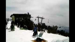 Heavenly ski resort top of the mountain view April 7 2012