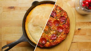 Upside Down One Pan Pizza