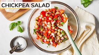 CHICKPEA SALAD | easy, vegan chickpea salad recipe