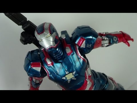Marvel Legends Iron Patriot Iron Man 3 Movie Iron Monger Wave Figure Review