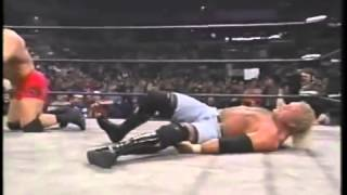 Sid Vicious Leg Break WCW - Psycho Sid breaks his leg - Wrestling is real