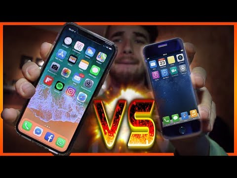 iPHONE X VS MINI iPhone! - [SFIDA INCREDIBILE!!]