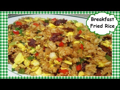 Best Breakfast Fried Rice Recipe ~ Bacon and Eggs Fried Rice Stir Fry