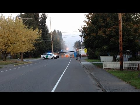 Natural Gas Pipeline Hit and Ruptured at Main Street Bridge in Lynden, WA
