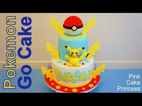 Pokemon Go Cake & Poke Ball Cake Topper how to by Pink Cake Princess