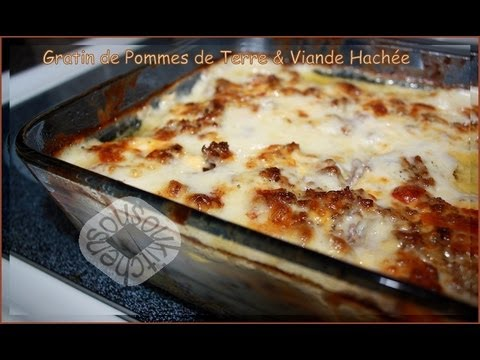 recette de gratin de pommes de terre et viande hachee meat potato gratin youtube. Black Bedroom Furniture Sets. Home Design Ideas