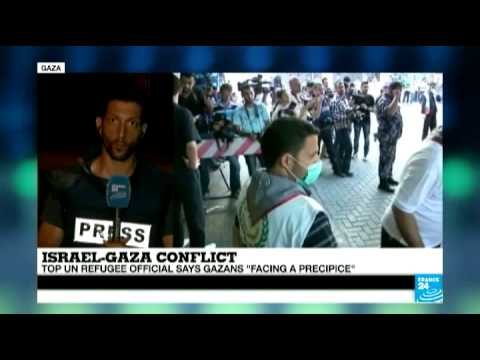 Rocket fire caught live as France 24 correspondent reports from the Gaza strip