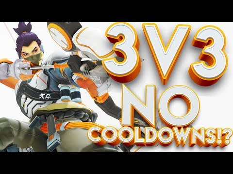 OVERWATCH 3V3 LOCKOUT NO COOLDOWNS CUSTOM GAMEMODE!?