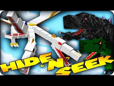 Minecraft Mods - MORPH MOD HIDE AND SEEK - CRAZYCRAFT BOSSES! (Mobzilla, The King & more)