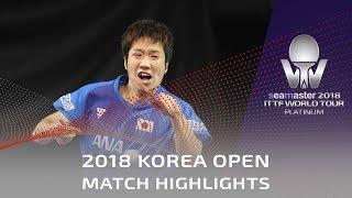 Gao Ning vs Mizutani Jun   2018 Korea Open Highlights (R32)
