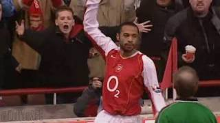 Thierry Henry hat trick vs Portsmouth | 2004/05