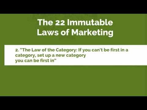 "The 22 Immutable Laws of Marketing-2. ""The Law of the Category"
