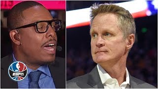 Paul Pierce gets into spirited debate over whether Steve Kerr is top-5 coach ever | NBA Countdown