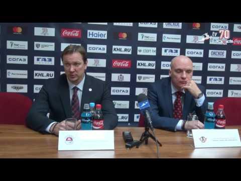 Пресс-конференция после матча Торпедо - Автомобилист (27.09.2016)